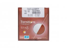 Линза Essilor 1.5 Transitions Gen8 Brown/Grey Crizal Sapphire UV
