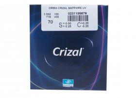 Линза Essilor 1.5 Orma Crizal Sapphire UV