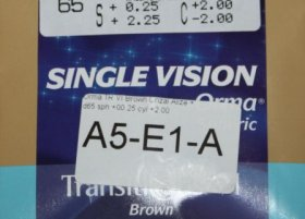 Линза Essilor Orma 1.5 Transitions VII