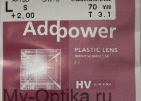 Линза Hoya 1.5 Addpower Hi-Vision Aqua