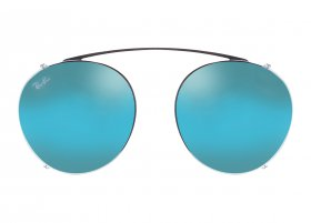 Ray-Ban 2447C 2502/B7 Round Clip-on