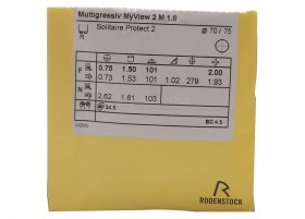 Rodenstock Multigressiv L/S/XS 1.6 Solitaire Protect