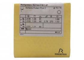 Линзa Rodenstock Multigressiv L/S/XS 1.67 Solitaire Protect