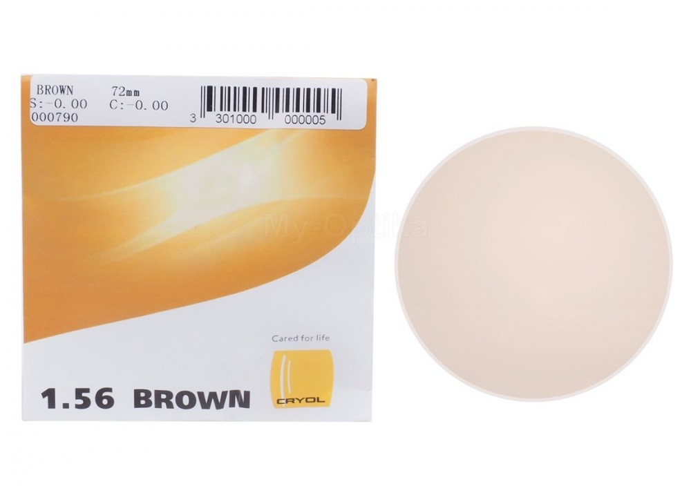 Линза Cryol 1.56 Grey Brown HMC 15%